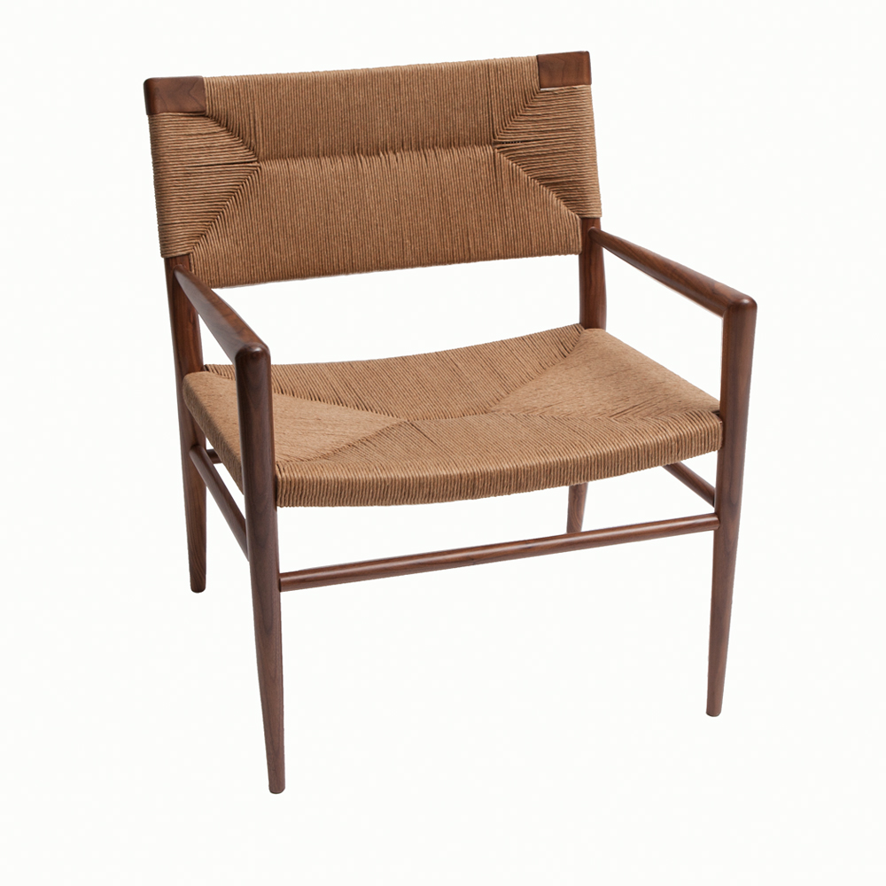 Woven Rush Lounge Chair Mel Smilow Smilow Furniture