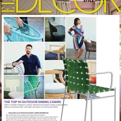 Dining Chairs Italian Design How To Reupholster A Wing Chair Elle Decor Tagliatelle Outdoor Suite News Alias Jasper Morrison Designer Furniture