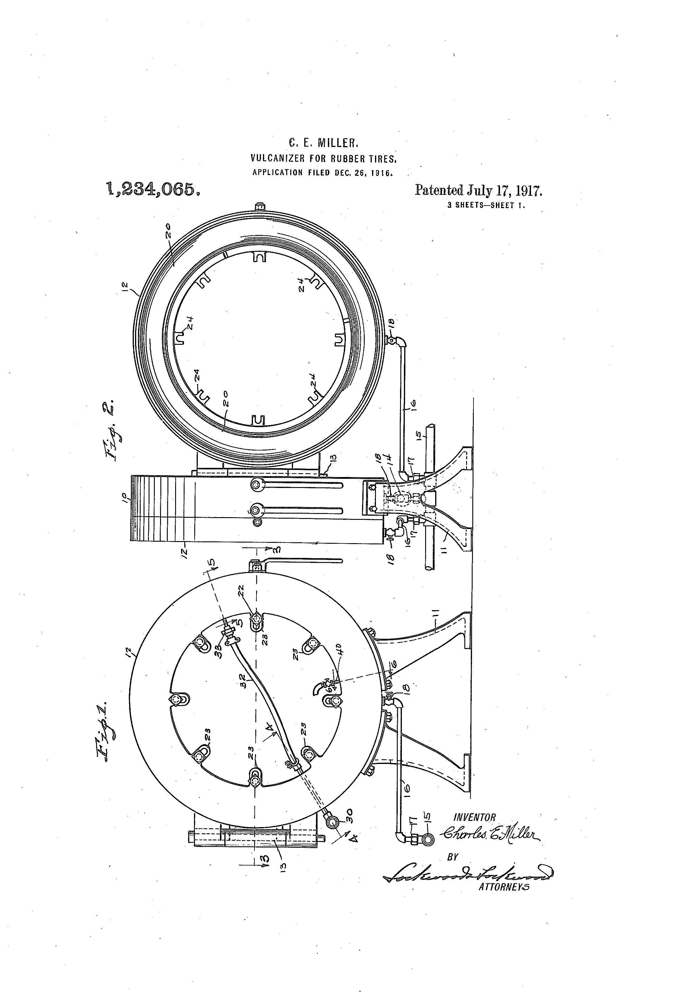 Patent Of The Day Vulcanizer For Rubber Tires