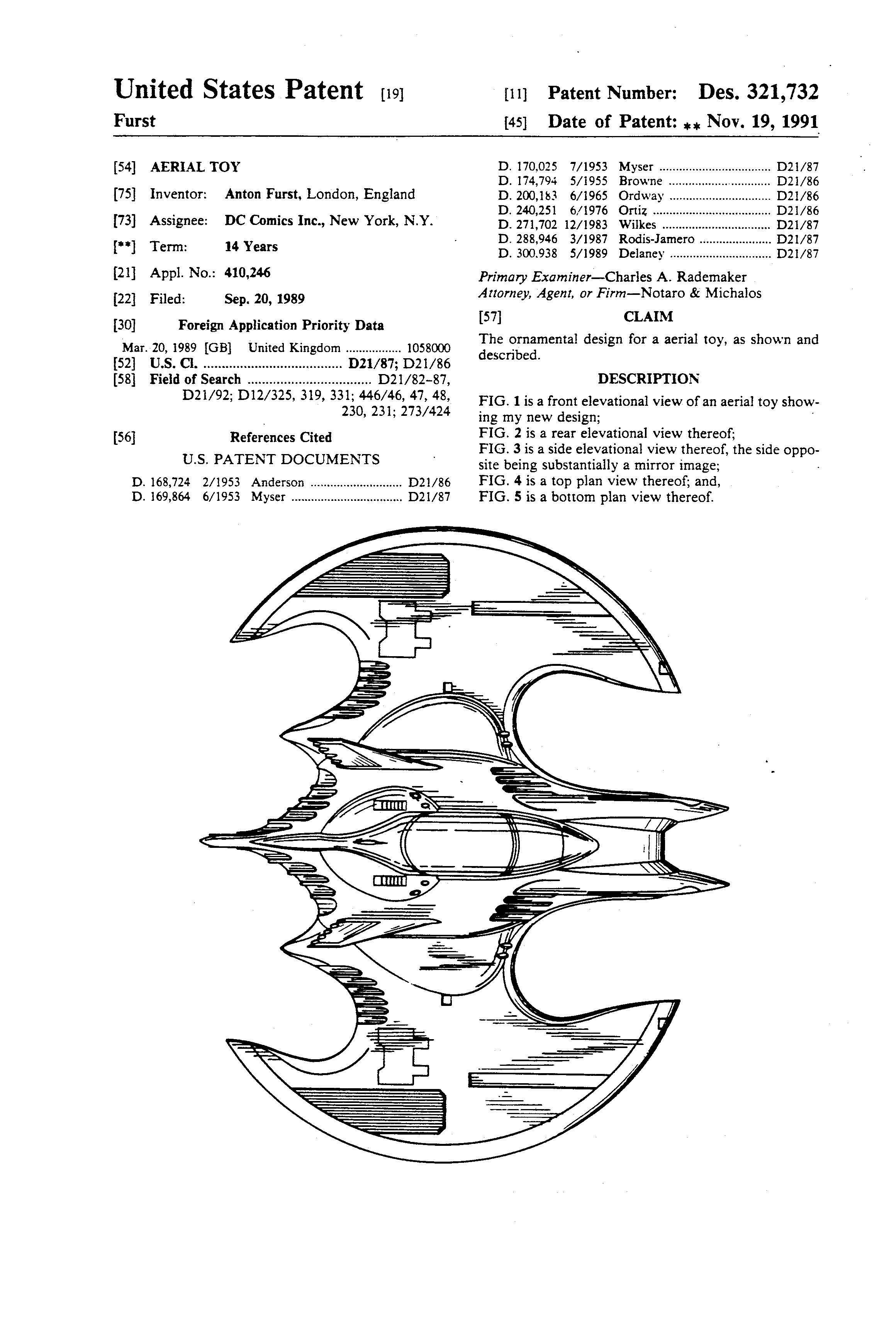 Patents of the Day: Vehicle and Aerial Toy (Batmobile and