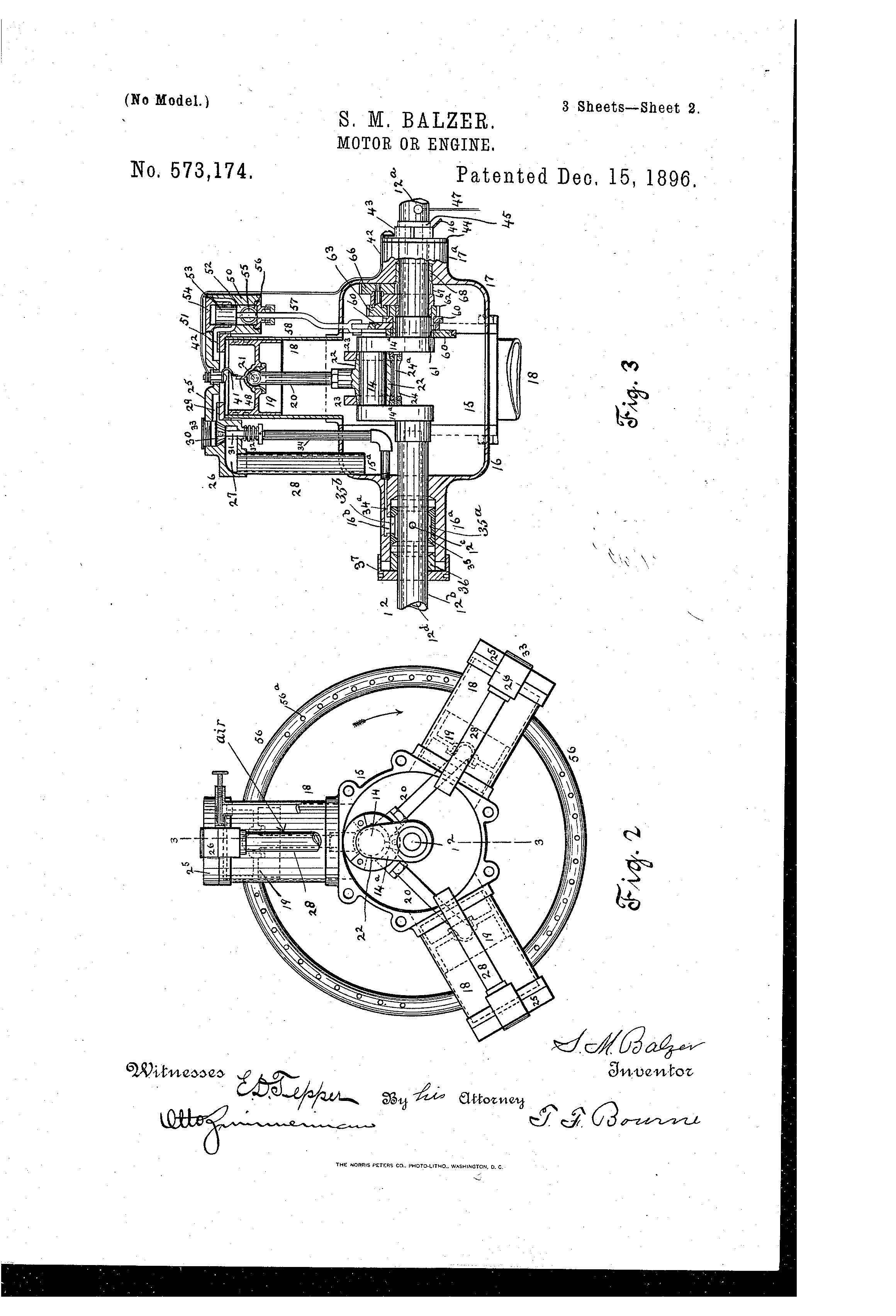 Patent Illustration Motor Or Engine Page 2