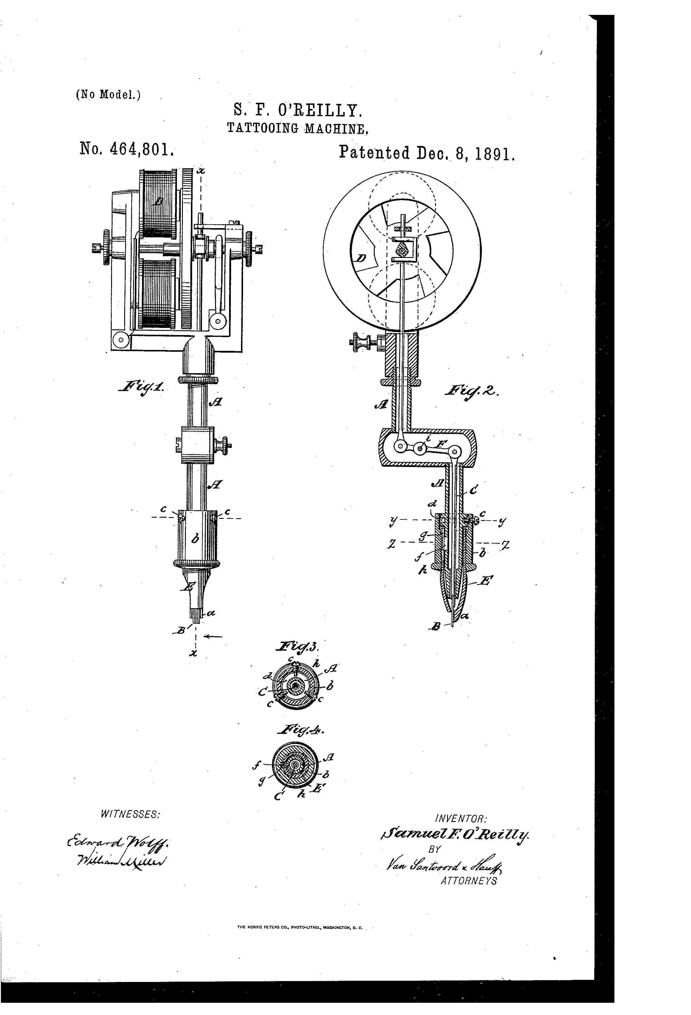 Patent Of The Day Tattooing Machine