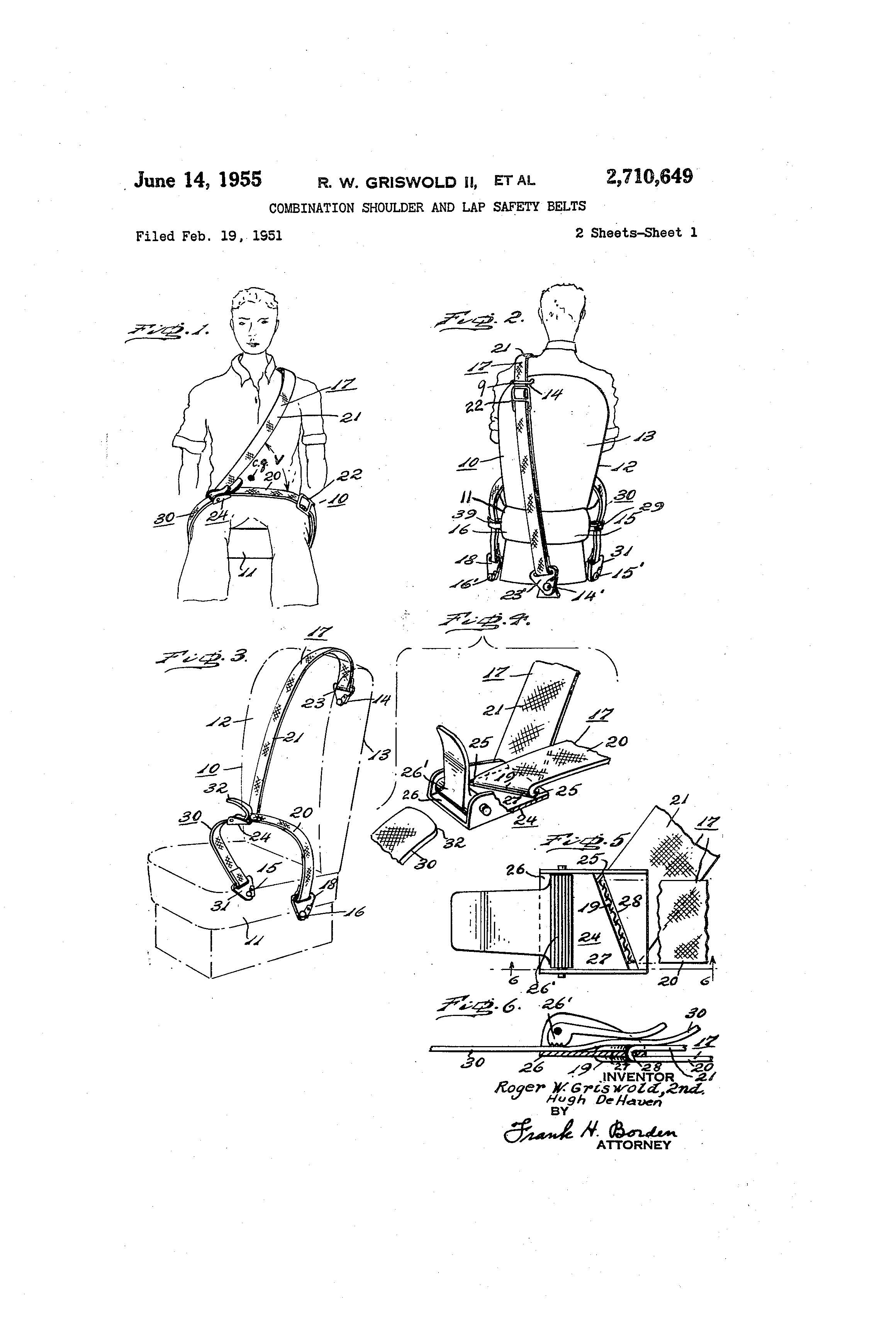 Patent Of The Day Combination Shoulder And Lap Safety