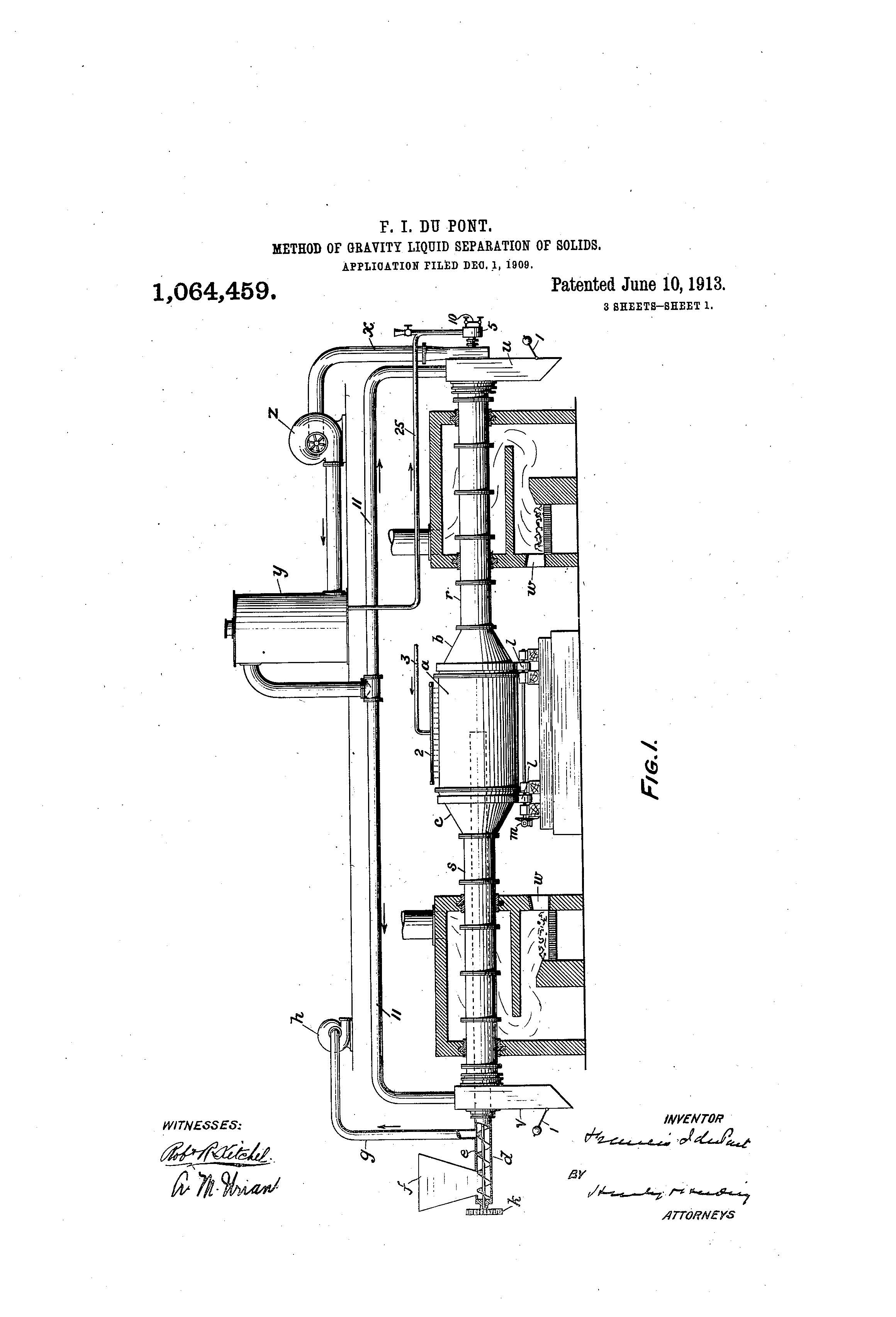 Patent of the Day: Method of Gravity Liquid Separation of