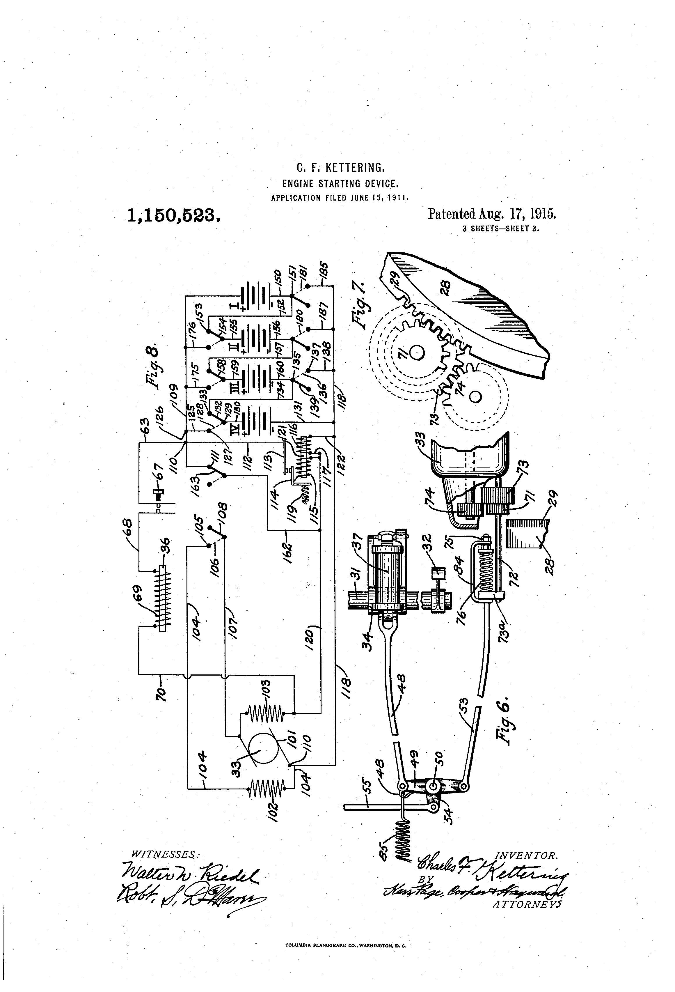 Patent Of The Day Engine Starting Device First Electric