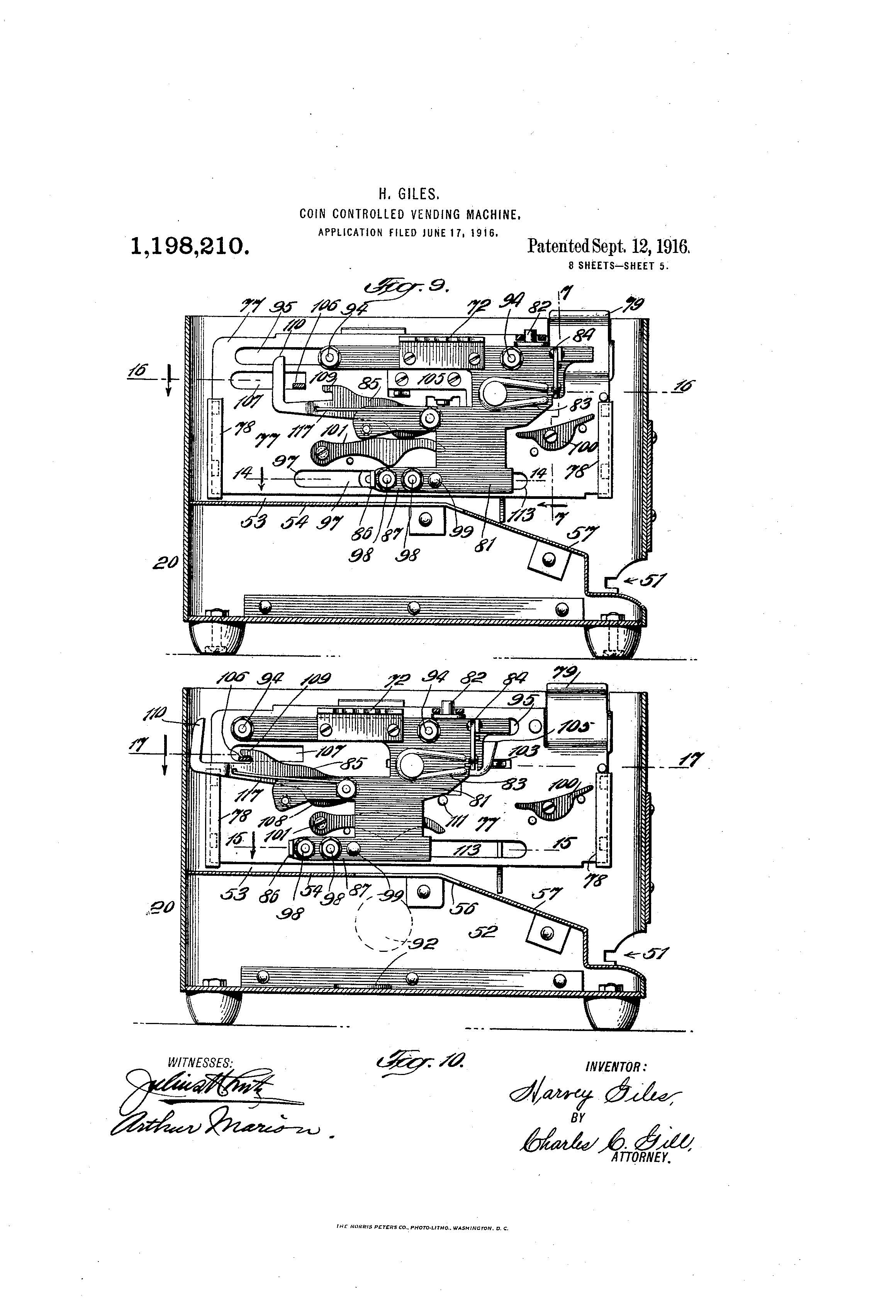 Patent of the Day: Coin-Controlled Vending Machine