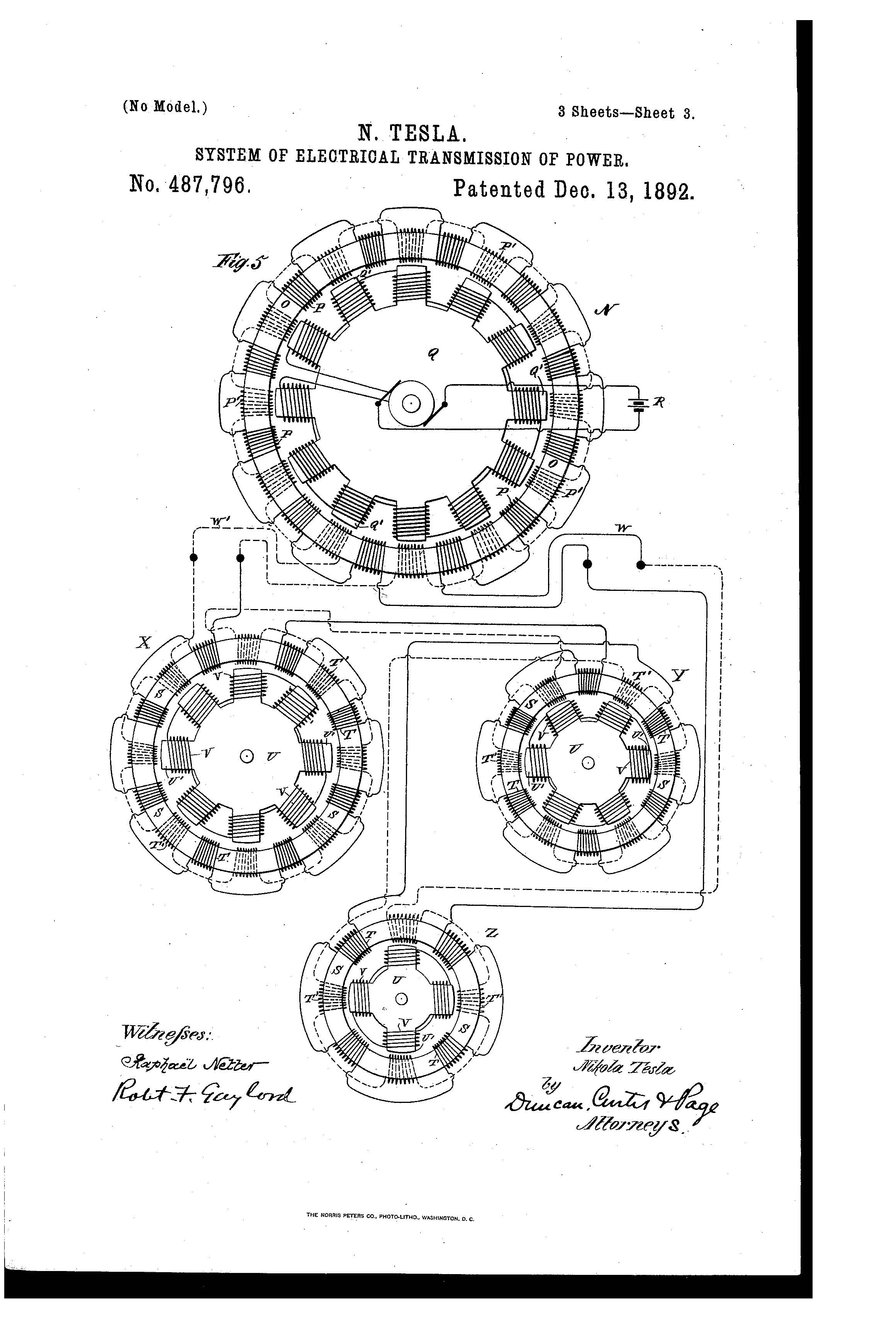 Patent of the Day: System of Electrical Transmission of