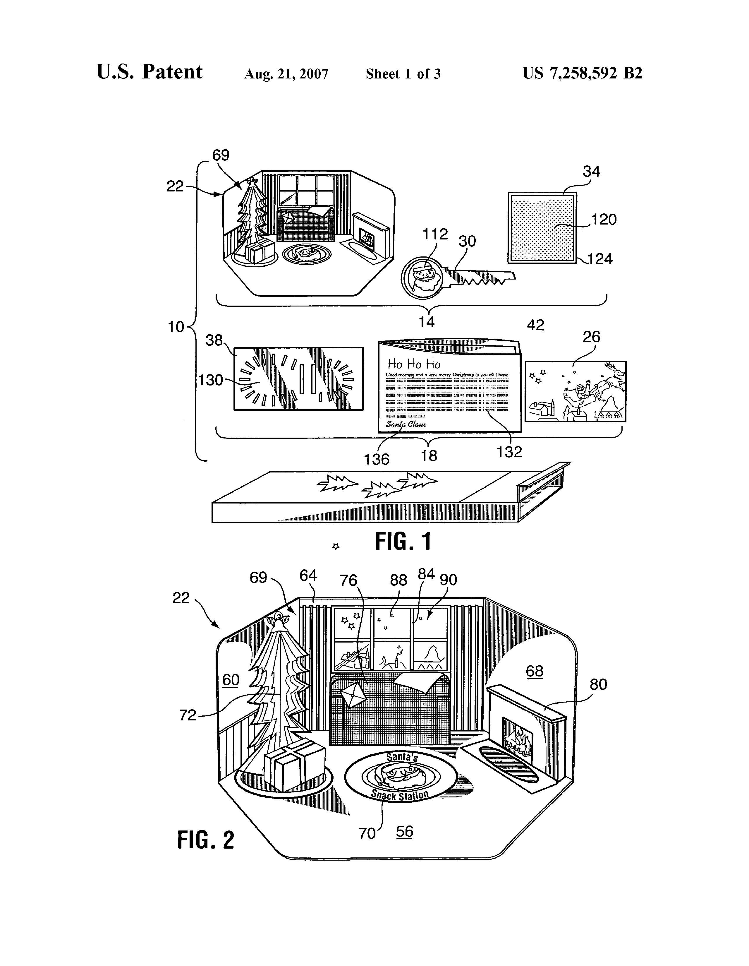 Christmas Patent of the Day: Santa Claus Visit Kit