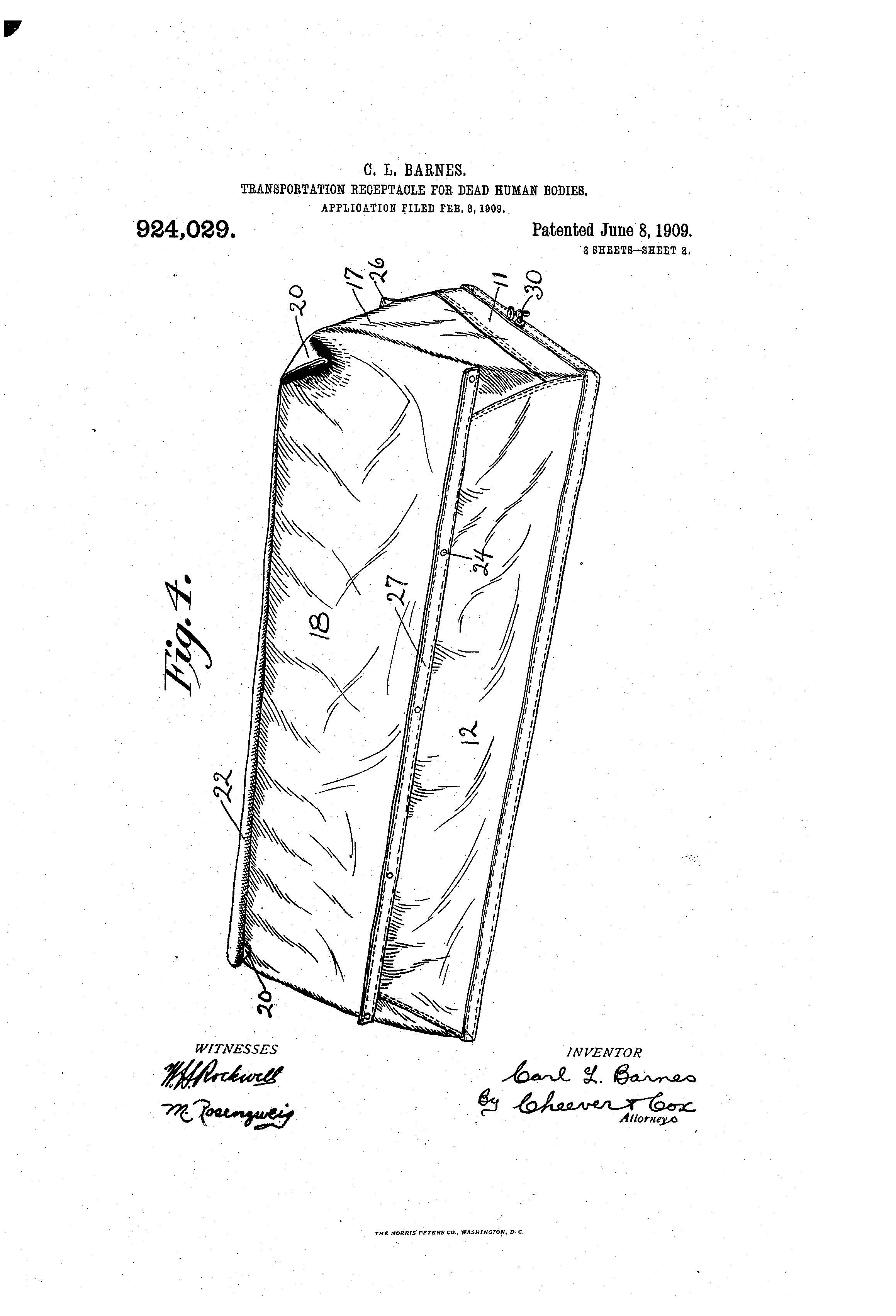 Patent of the Day: Transportation Receptacle for Dead