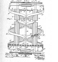 patent of the day moving spiral stairway or elevator [ 2320 x 3408 Pixel ]