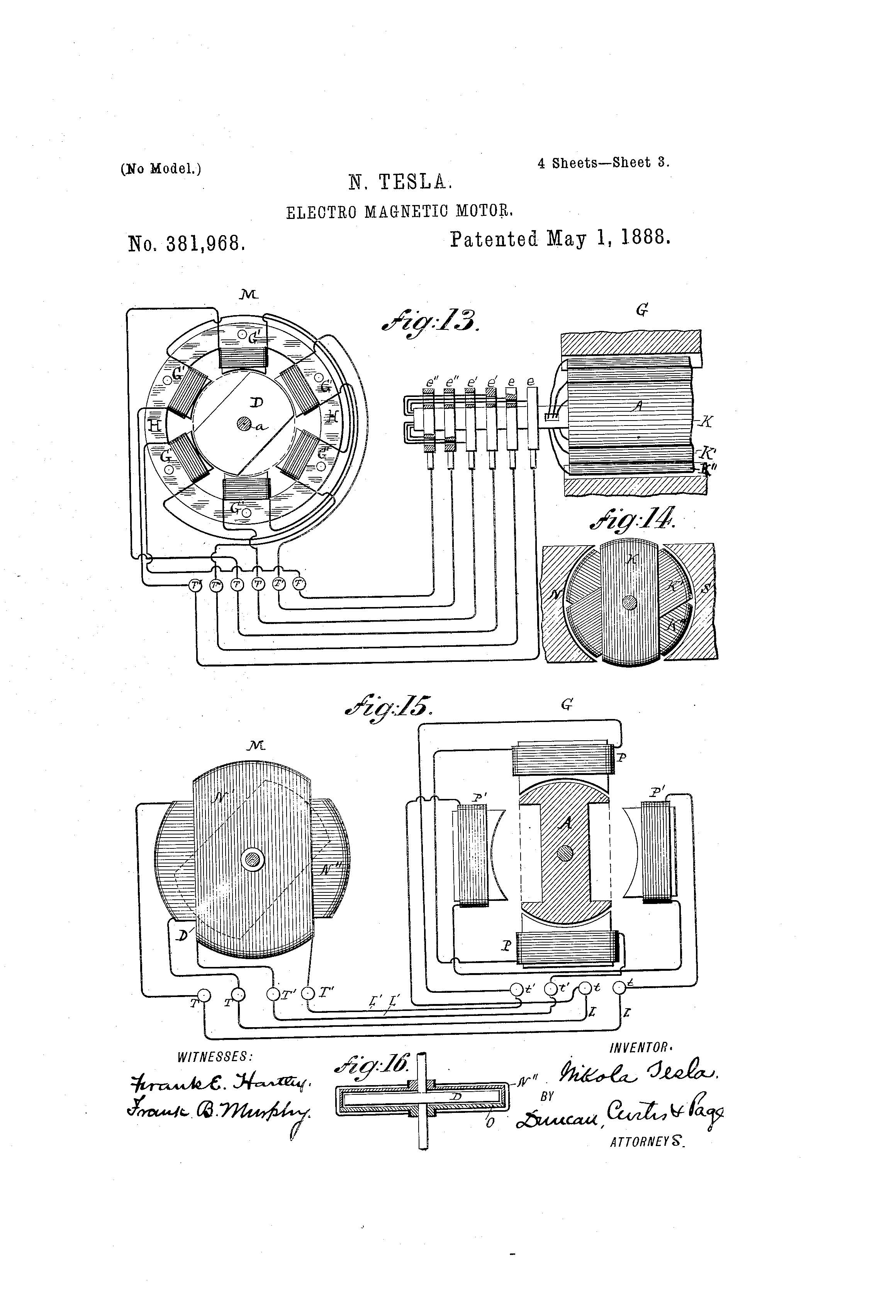 Patent Of The Day Electro Magnetic Motor