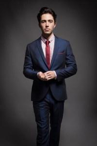 Navy Blue Suit Red Tie