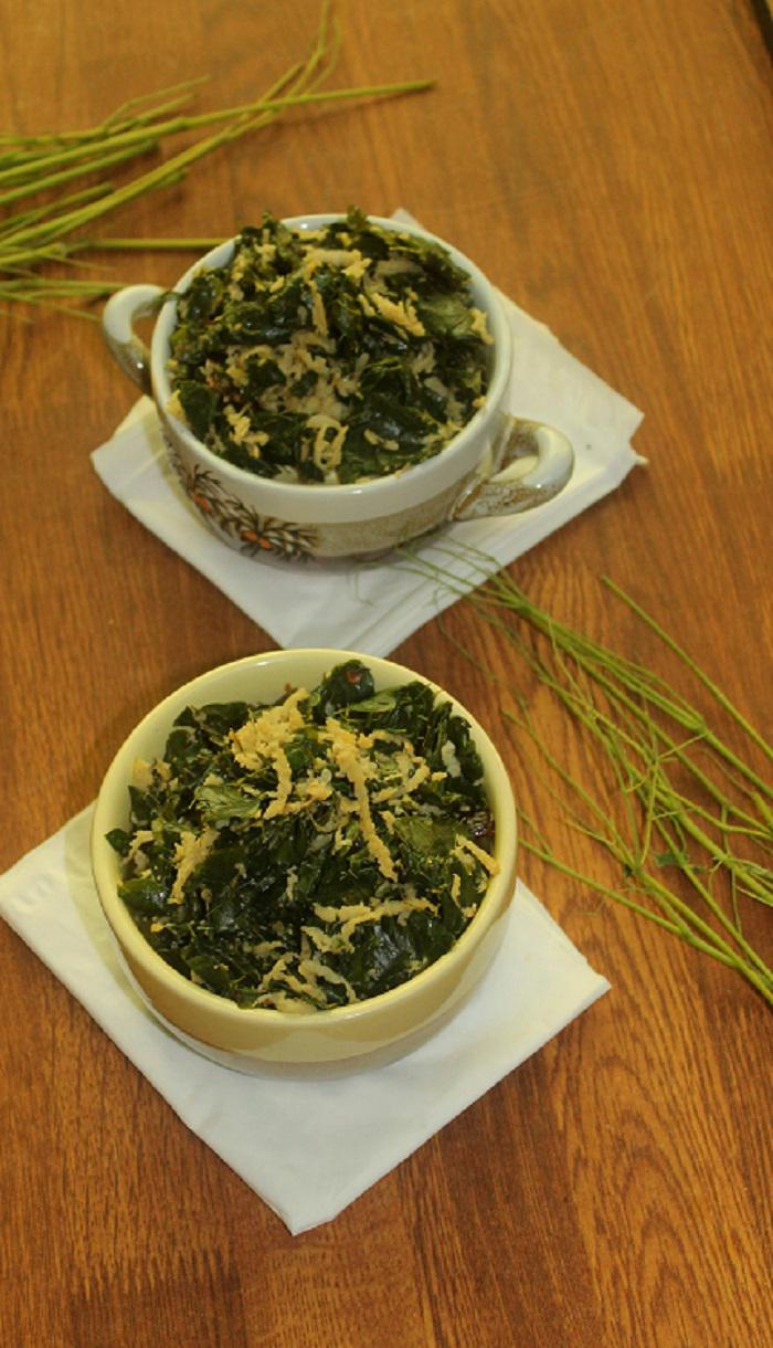 muringayila thoran (Drumstick leaves stir fry) recipe