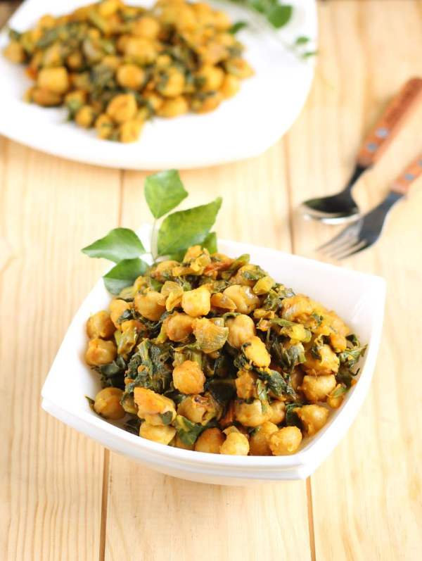 Sauteed Chickpea and Spinach