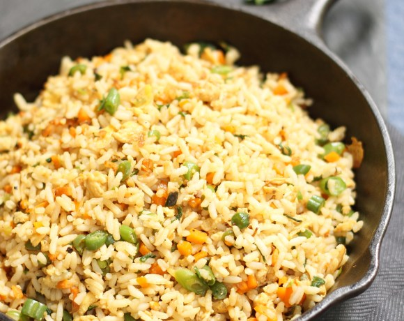 Vegetable and Egg Fried Rice from Left over Rice