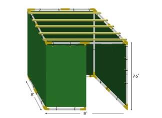 8x8 EZ-Store Sukkah Kit