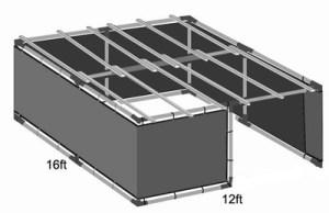 12x16 Tubular Sukkah Kit