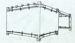 8x16 Wood-Frame Sukkah Kit