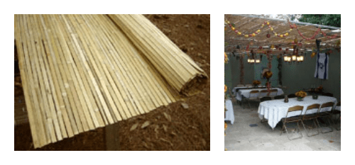 Kosher Bamboo S'chach Mats from The Sukkah Project®