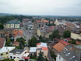 Dvůr Králové nad Labem z věže Kostela sv. Jana Křtitele