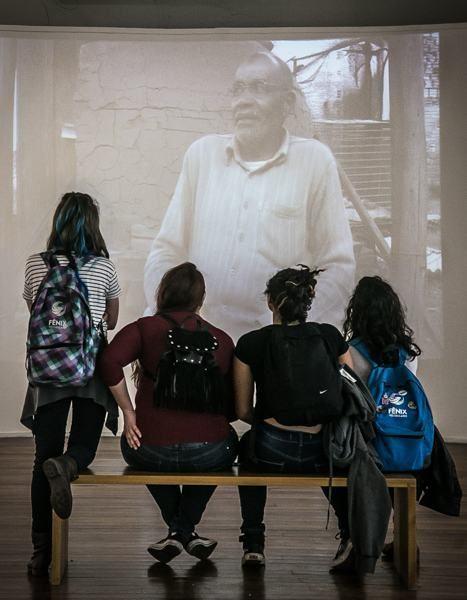 Exposição também traz vídeos com depoimentos de personagens quilombolas de várias regiões do Estado. (Foto: Guilherme Santos/Sul21)