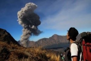 Mount Rinjani Eruption