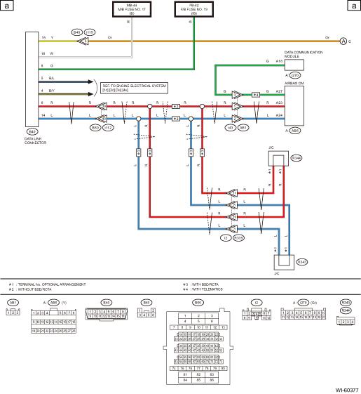 subaru airbag wiring diagram  schematic wiring diagram
