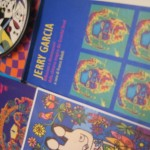 Jerry Garcia collage con libro di Franco Bollelli