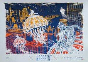 Warpaint Astra Kulturhaus Berlin gig poster by Spiegelsaal