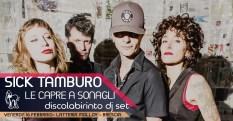 Sick Tamburo Latteria Molloy locandina Brescia gig poster