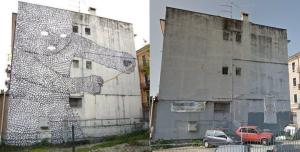 Blu non c'è più, street art, verona