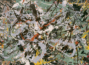 Jackson Pollock 				 				Untitled (Green Silver),	ca. 1949