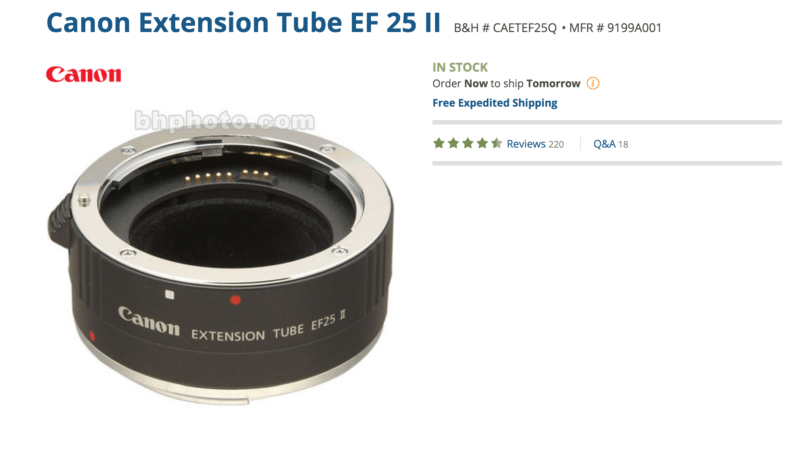 extension tube