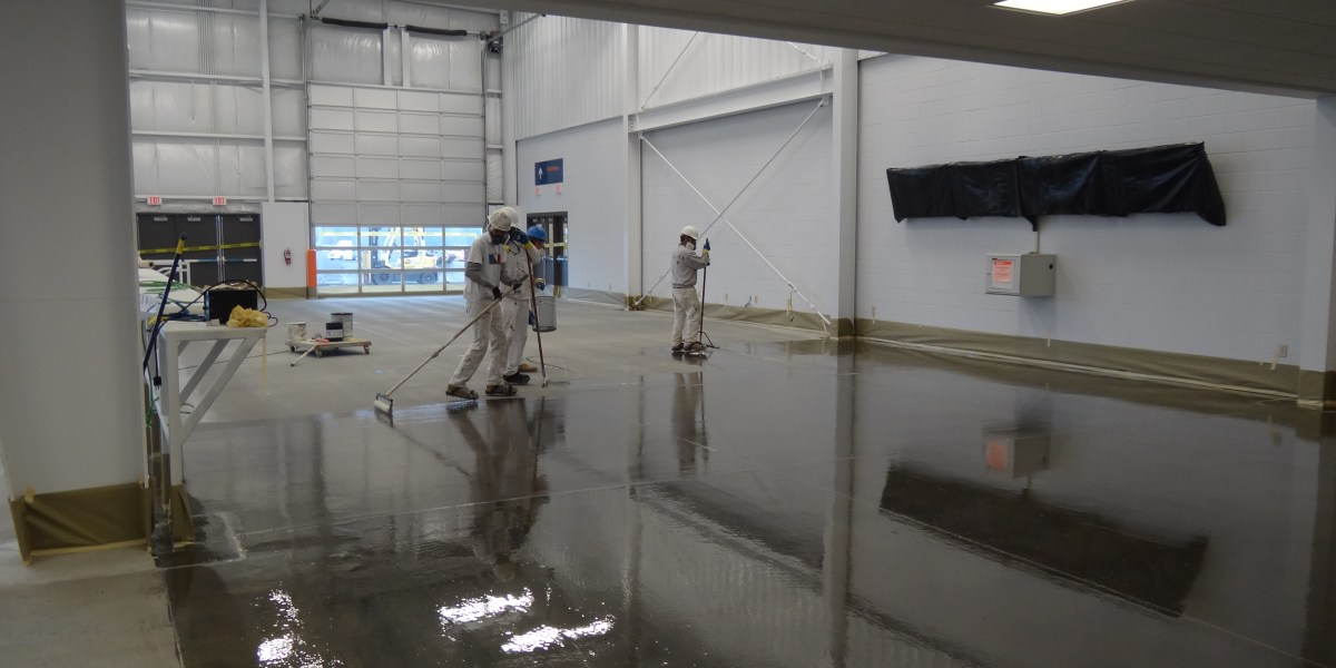 Industrial Warehouse Floor Stain