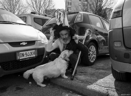 Un cane e il suo padrone