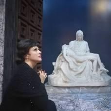 Chiara Taigi nel ruolo di Santuzza dell'Opera Cavalleria Rusticana