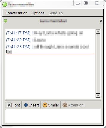 Pidgin Chat Window