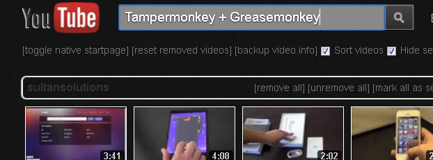 YouTube-Greasemonkey-Tampermonkey