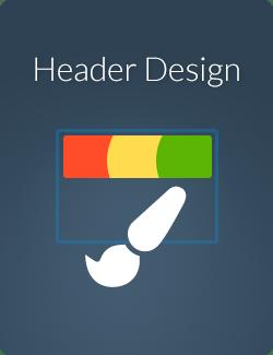 boxes header design - header design