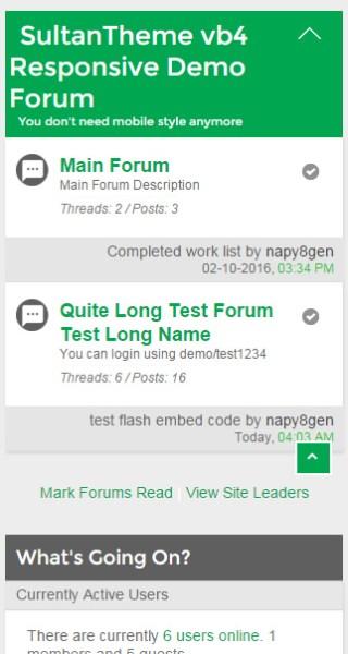forumlist - ST vB4 Responsive