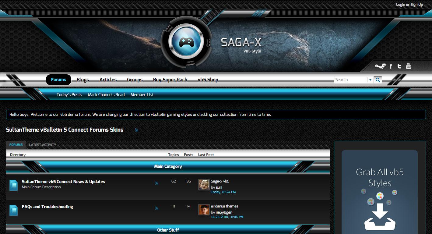 saga x blue