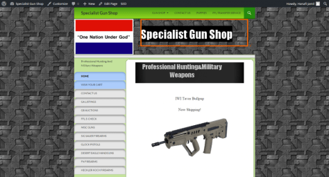 specialistgunshop 1024x554 - FrontPage to Wordpress conversion service