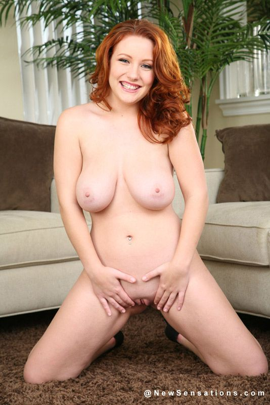 Sultry Nude Woman With Red Hair