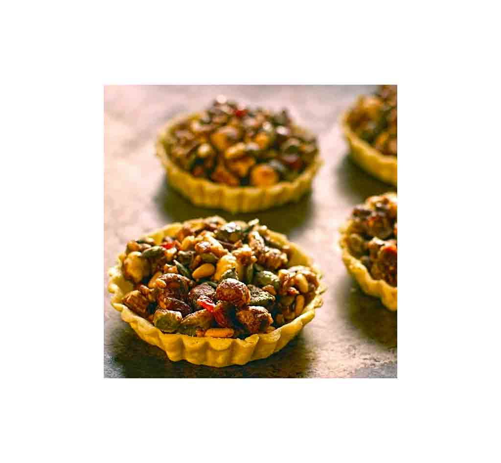 Pumpkin seed cranberry & nut tartlets recipe