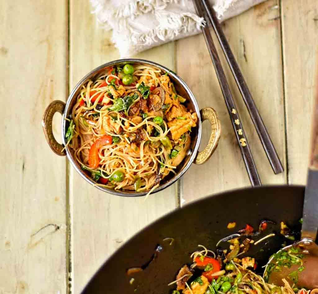 Vegan Singapore Style Noodles