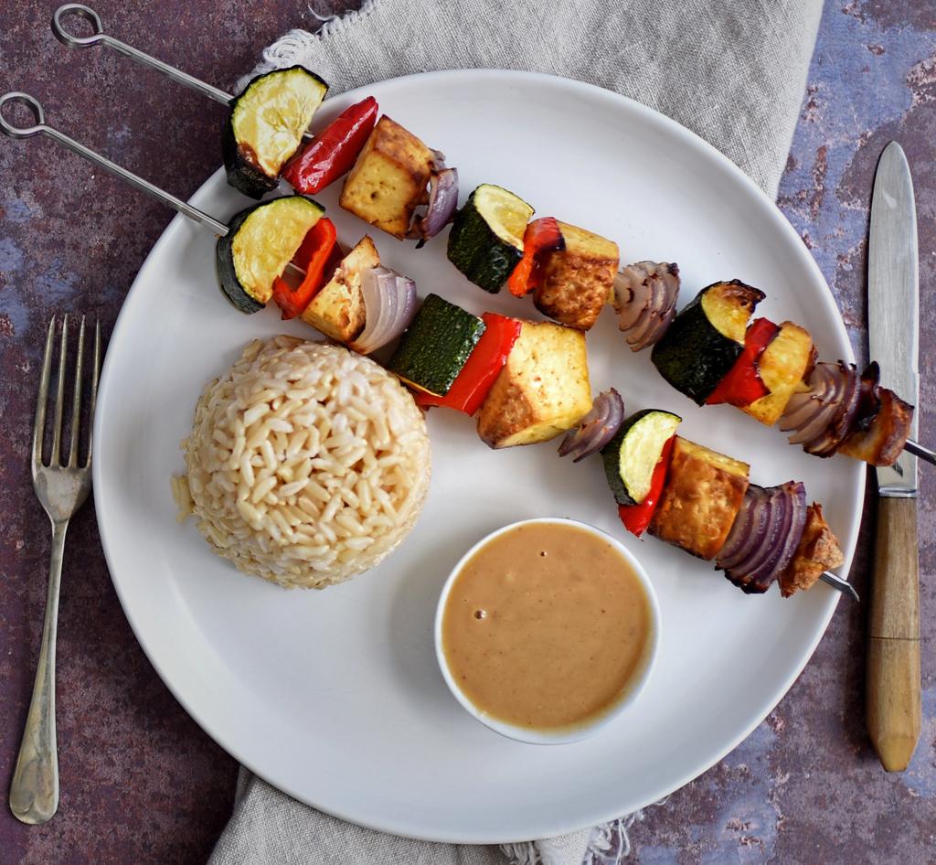 vegan smoked tofu kebab