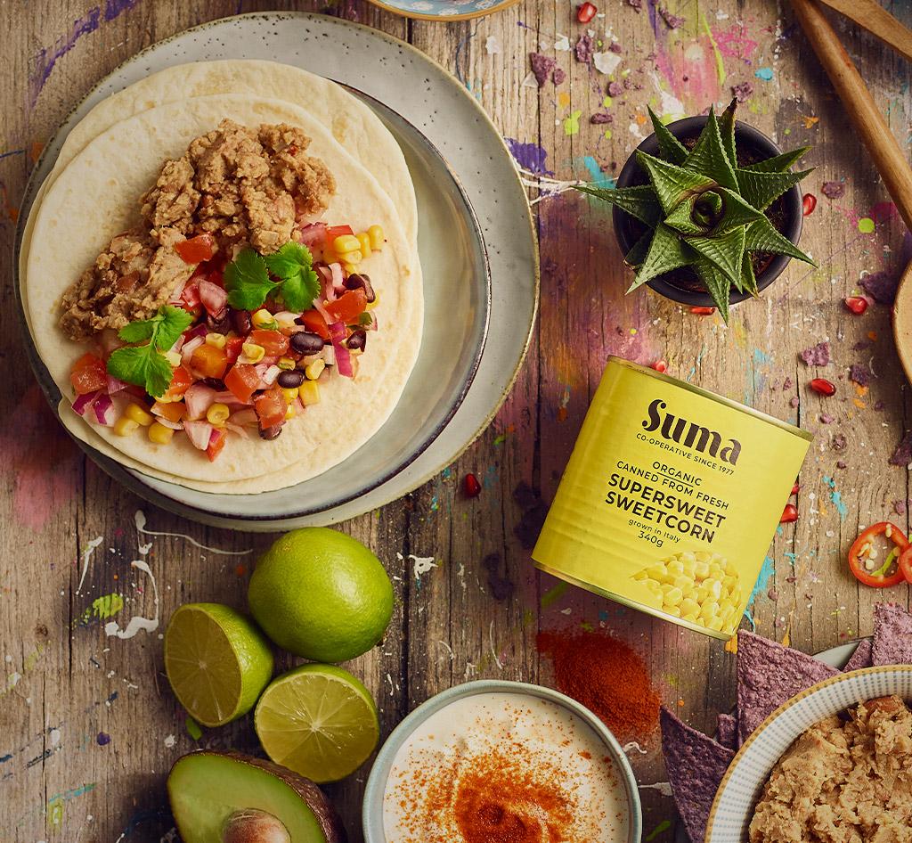 Suma Sweetcorn & Suma Black Bean's Recipe