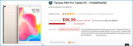 Gearbest Teclast P80 Pro