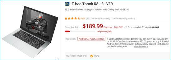 Gearbest T-bao Tbook R8