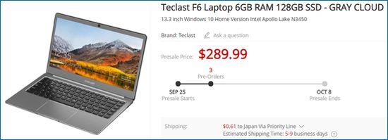 Gearbest Teclast F6
